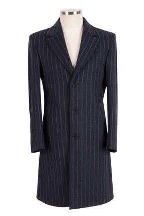 Blu % 100 Kaşmir Slim-fit Palto