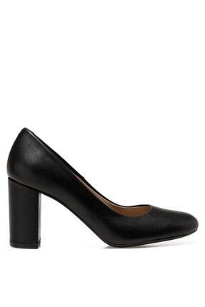 İnci SERIM2 Siyah Kadın Hakiki Deri Topuklu Ayakkabı 101030302