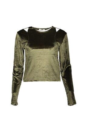 Collezione Kadın Haki Tshirt