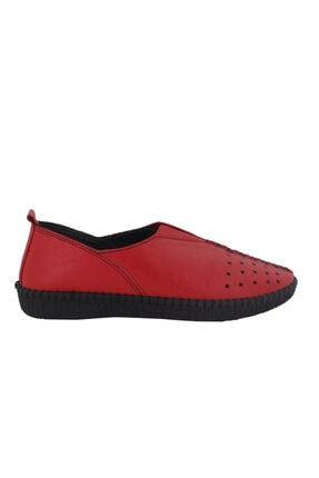 Hobby Kırmızı Deri Kadın Ayakkabı Fb119