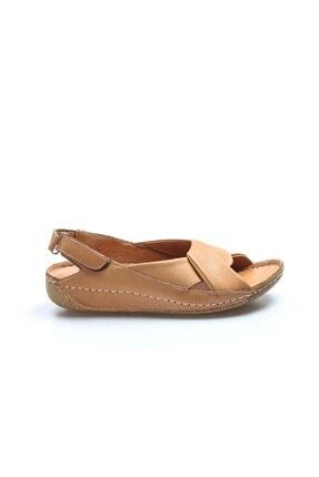 Fast Step Hakiki Deri Taba Kadın Klasik Sandalet 864za610