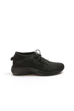 Fast Step Siyah Tekstil Kadın Yürüyüş Ayakkabı 629za258-2001