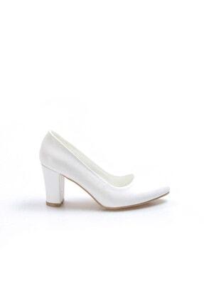 Fast Step Beyaz Kadın Kısa Topuklu Ayakkabı 917za850