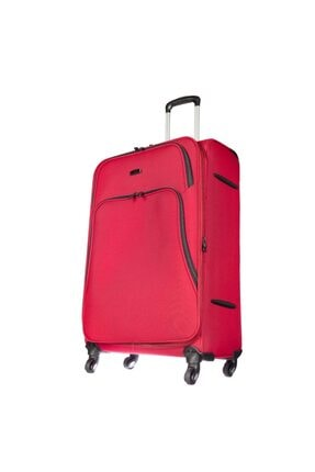 ÇÇS 407-l Kırmızı Unısex Büyük Boy Valiz