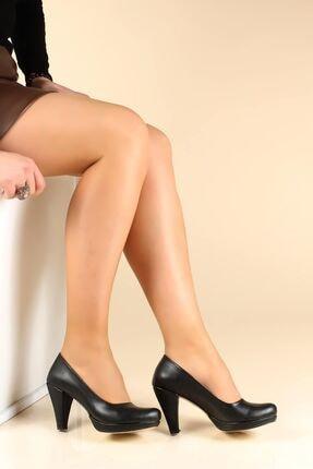 Fast Step Siyah Kadın Yüksek Topuk Ayakkabı 919za647