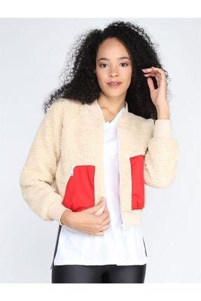 Twister Jeans Kadın Ceket Bc Kırmızı Standart Astarlı Peluş 4003 Krem