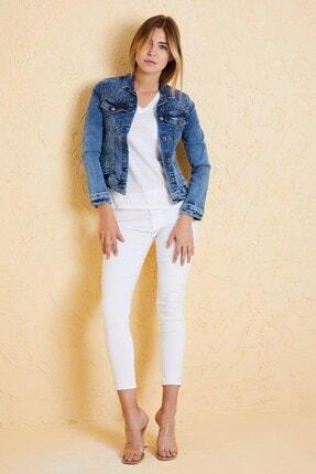 Twister Jeans Kadın Slim Fit Ceket Lıla J18-01 01