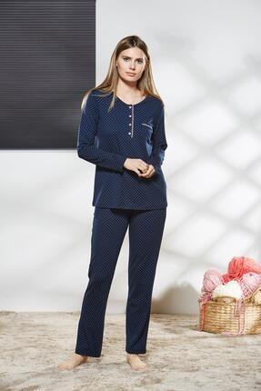 PJS PİJAMA Kadın Düğmeli Pijama Takımı 21130
