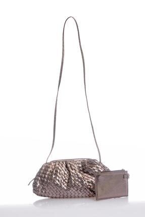 Sergio Giorgianni Luxury Sglx5626 Platin Kadın Omuz Çantası