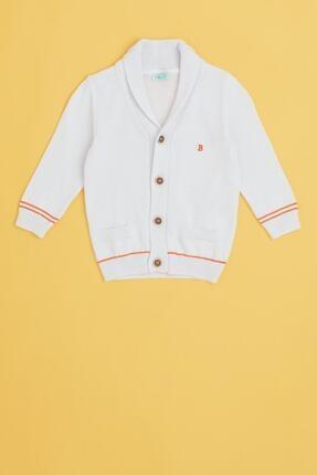 BG Store Erkek Bebek Beyaz Hırka
