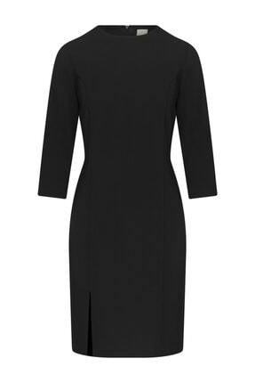 W Collection Truvakar Kollu Siyah Elbise