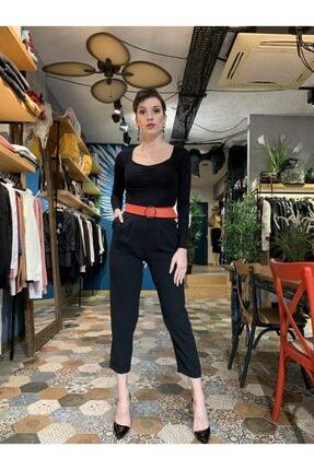 Bsl Kadın Beli Yüksek Ve Pileli Havuç Pantolon