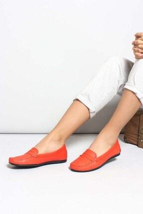 Fast Step Hakiki Deri Nar Çiçek Kadın Loafer Ayakkabı 710za046