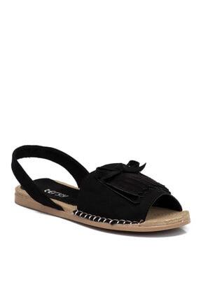 Tergan Siyah Vegan Kadın Sandalet 210111d62