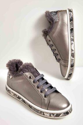 Bambi Kurşun Kadın Sneaker M0674909209
