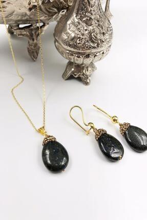 DR Stone Dr Stone Harem Koleksiyonu Lapis Lazuli Taşı El Yapımı 925 Ayar Gümüş Set Gdr8