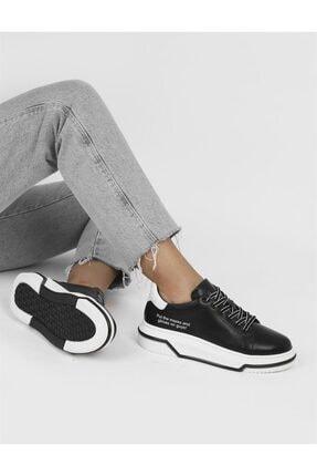 İlvi Fild Hakiki Deri Kadın Siyah - Beyaz Spor Ayakkabı