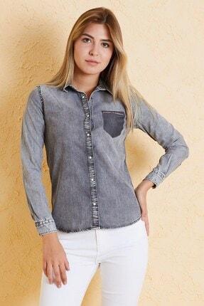 Twister Jeans Kadın Slim Fit Gömlek Bg 810-01 (T-y) 01