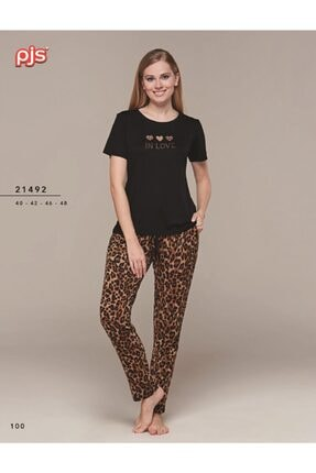 PJS PİJAMA Kadın Kısa Kol Pijama Takımı 21492