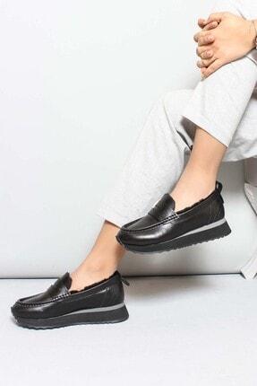 Fast Step Hakiki Deri R01 Siyah Kadın Casual Ayakkabı 009kza851