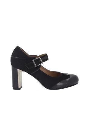Hobby Siyah Deri Topuklu Kadın Ayakkabı 277