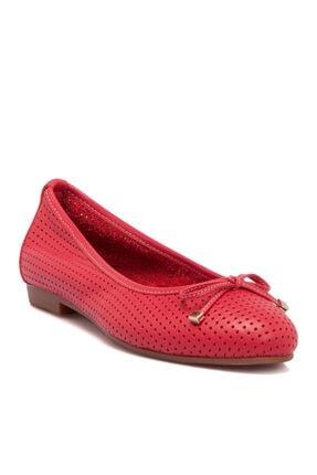 Tergan Kırmızı Kadın Babet 64506a30