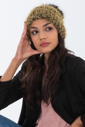 Forum Fashion Ponponlu Parlak Kadın Bere