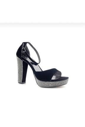 Punto 655162 Kadın Taşlı Kalın Topuklu Ayakkabı