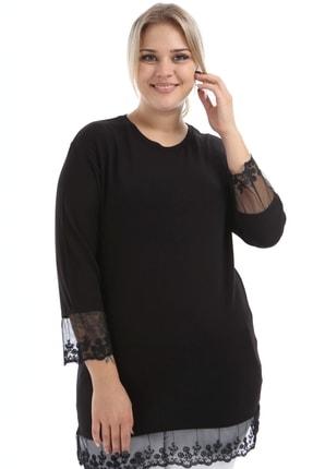Big Free Kadın Kolları Ve Eteği Tül Bluz