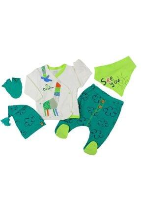 İmaj Unisex Bebek Yeşil Time Origami 5 Parça Zıbın Seti Hastane Çıkışı 5059