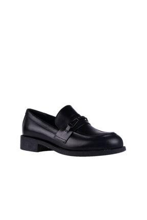 Frau Kadın Siyah Loafer Ayakkabı 98p0 Seta Nero