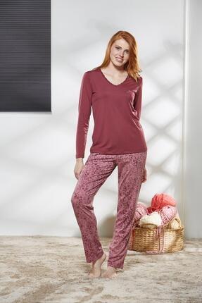 PJS PİJAMA Kadın V Yaka Pijama Takımı 21147