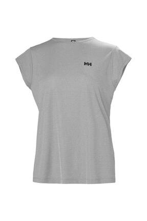 Helly Hansen W Hp Racing Top Bayan T-shirt Açık Gri