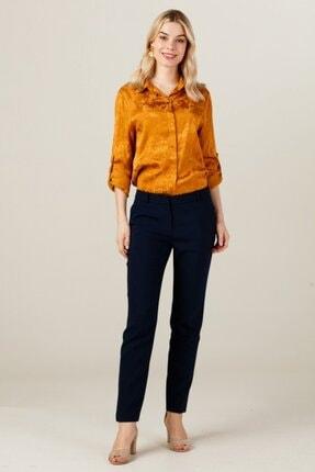 Ekol Kadın Lacivert Kemerli Pantolon 2002