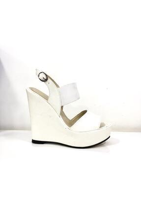 Punto Kadın Beyaz Dolgu Taban Topuklu Ayakkabı 674197