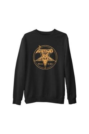 Lord Unisex Siyah Venom Welcome To Hell Kalın Sweatshirt