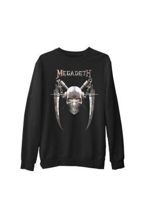 Lord Unisex Siyah Megadeth Vic 6 Kalın Sweatshirt