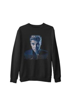 Lord Erkek  Siyah Justin Bieber 2 Kalın Sweatshirt