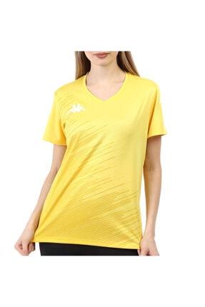 Kappa Kadın Poly T-shirt Abuw Sarı