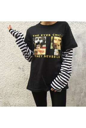 Köstebek Unisex Çizgili T-shirt