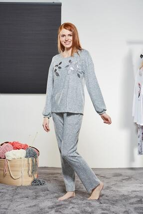 PJS PİJAMA Kadın Yuvarlak Yaka Pijama Takımı 21177