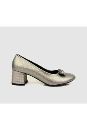Punto Kadın Platin Klasik Topuklu Ayakkabı