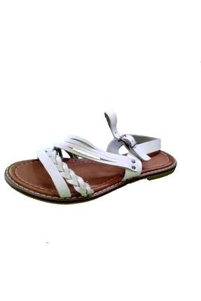 MP M.p 6763 Örgülü Desenli Kadın Sandalet 180