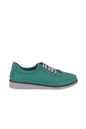 Hobby Divadonna Yeşil Deri Günlük Kadın Ayakkabı 276