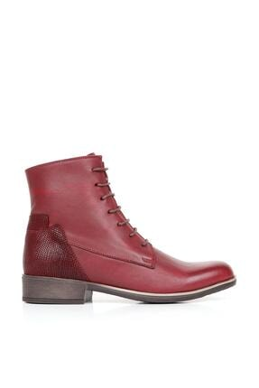 Bueno Shoes Hakiki Deri Kadın Düz Bot 01wr3305