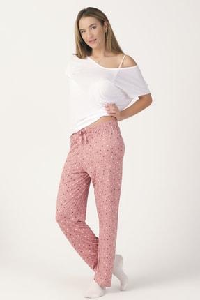 PrettyChic Kadın Soft Viskon Kumaş Mevsimlik Tek Pijama Altı
