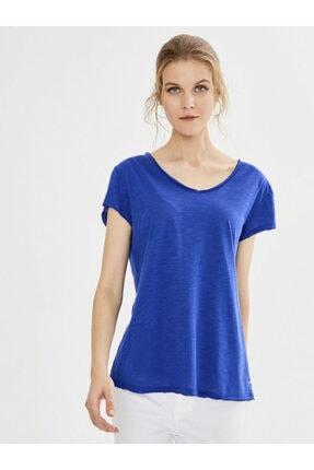 XINT Kadın  V Yaka Pamuk Basic Tişört