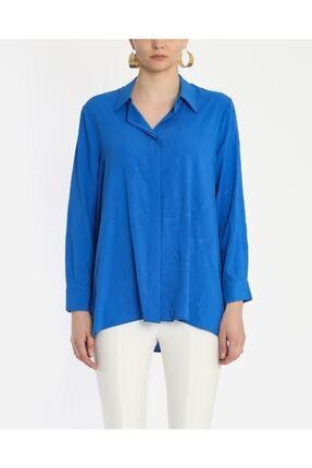 Ayhan Kadın Mavi Kraşlı Gömlek