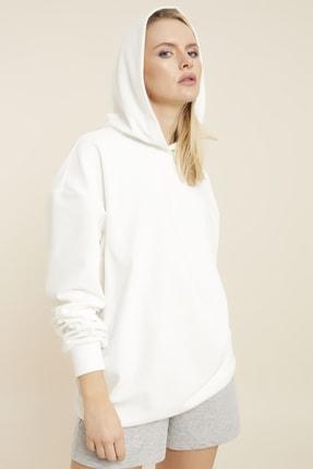 Hanna's Kadife Kapüşonlu Sweatshirt