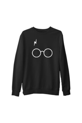 Lord Erkek Siyah Harry Potter Scar Kalın Sweatshirt